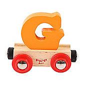 Bigjigs Rail Rail Name Letter G (Orange)