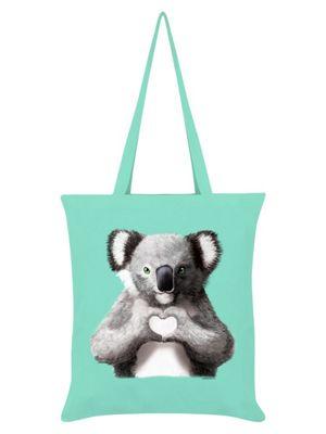 Unorthodox Koala Tote Bag 38 x 42cm, Mint Green