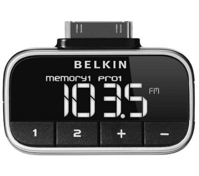 Belkin F8Z179EA Compact and Stylish Click-in FM Transmitter for iPod.