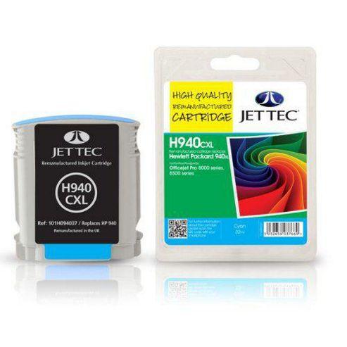 HP940XL C4907AE Cyan Remanufactured Ink Cartridge by JetTec - H940CXL