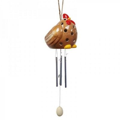 Ceramic Hen Wind Chime Light