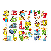 Disney Winnie The Pooh 3 x Sheets Alphabet Wall Stickers