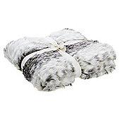Tesco Grey Fur Throw