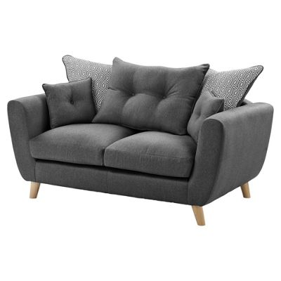 Holborn Compact 2 Seater Sofa, Grey