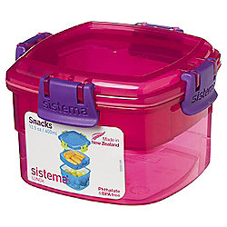 Sistema Pink Snacks To Go Lunch Box