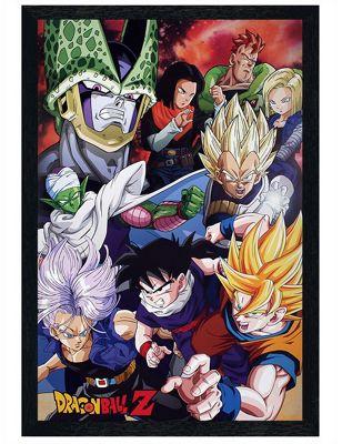 Dragon Ball Z Black Wooden Framed Cell Saga DBZ Poster