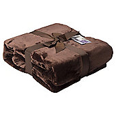 Brown Super Soft Fleece Throw