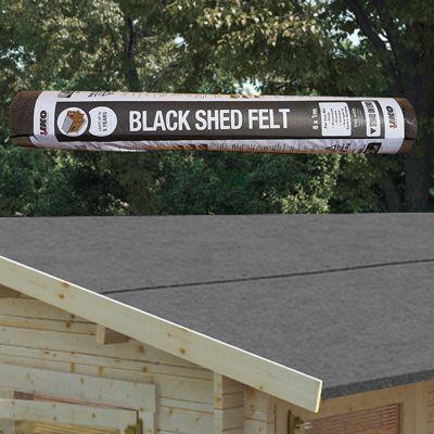 buy iko mineral shed roofing felt 8m x 1m roll black. Black Bedroom Furniture Sets. Home Design Ideas