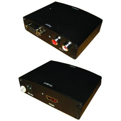 VGA To HDMI AV Audio Video PC To TV Adapter Convertor