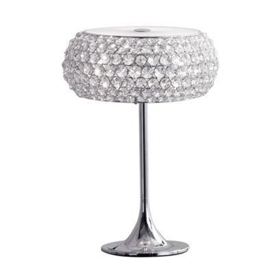 Litecraft Boston table lamp Chrome