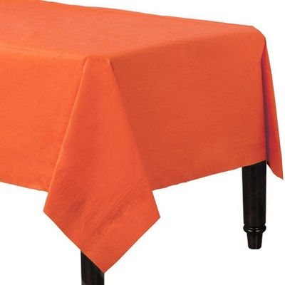 Orange Tablecover - 2ply Paper - 1.4m x 2.8m