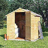 4x6 Overlap Wooden Garden Storage Shed Single Door Windowless Apex Roof 4ft 6ft - Premium