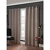 Hamilton McBride Arabesque Eyelet Lined Curtains - Mink