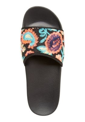 F&F Embroidered Sliders Black Adult 8
