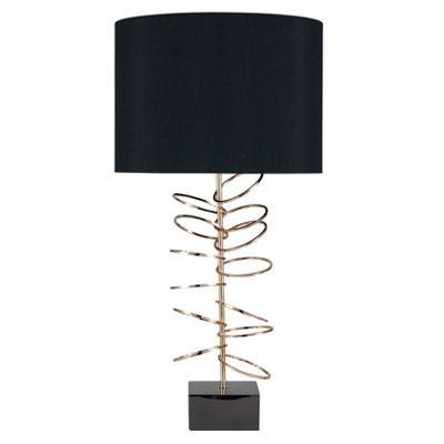 Metal Hoop Hotel Sculptured Table Lamp Complete