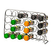 Hahn Pisa Spice Rack in Polished Chrome - 25cm H x 38cm W x 12cm D (24 Jar)
