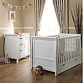 Obaby Stamford 2 Piece Cot Bed Nursery Room Set - White