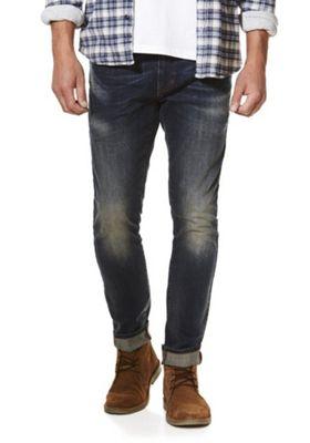 F&F Stretch Skinny Jeans 36 Waist 32 Leg Mid wash