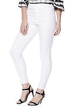 F&F Premium Mid Rise Jeggings - White