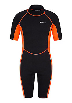Mens Shorty Neoprene Surf Summer Wet Suit Wetsuit - Orange
