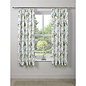 Dreams n Drapes Lorena Pencil Pleat Lined Curtains - 66x72 Inches (167x183cm) - Green