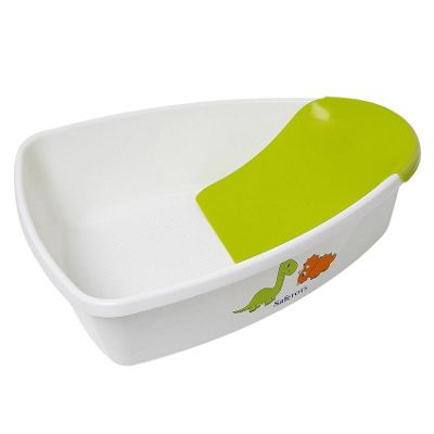 Safetots Dinosaur Baby Bath White with Lime Removable Support