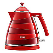 DeLonghi-KBA3001R Avvolta Jug Kettle with 1.7L Capacity and 2000w Power in Red