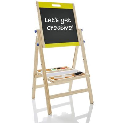 KiddyPlay Deluxe 3 in 1 Wooden Art Easel