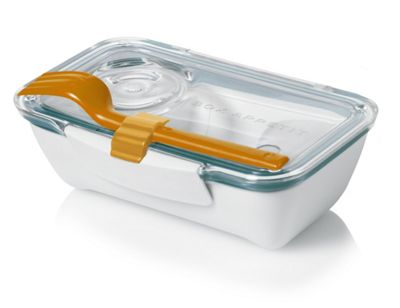 Black+Blum Bento Box in White and Ocean Blue BT005