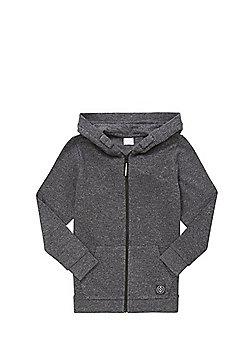 F&F Marl Zip-Through Hoodie - Charcoal