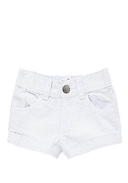 Minoti Pinstripe Shorts - Blue & White