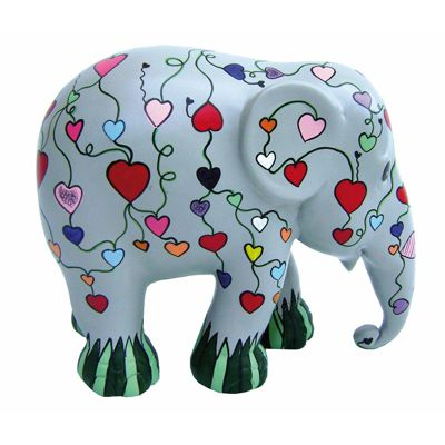 Elephant Parade Let Your Heart Flower 20cm Collectible Artpiece