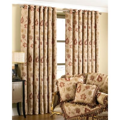 Riva Home Zurich Champagne Eyelet Curtains - 66x72 Inches (168x183cm)