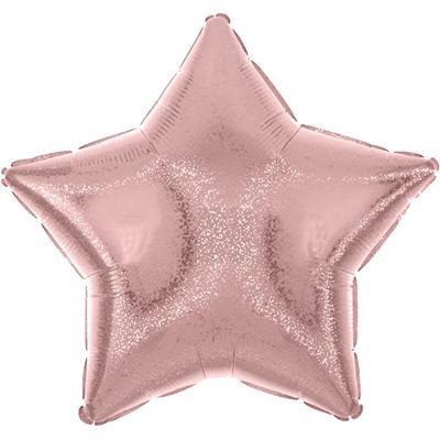 Pastel Pink Dazzler Star Balloon - 19 inch Foil