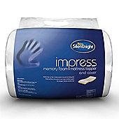 Silentnight Impress 5cm Memory Foam Mattress Topper - Double
