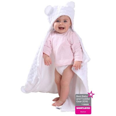 Clair de Lune Teddy Ears Blanket (Marshmallow White)