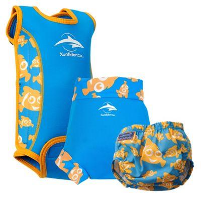 Konfidence Babywarma and Swim Nappies Set Clownfish