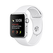 Apple Series 2 (42mm) Watch with Silver Aluminium Case and White Sport Band