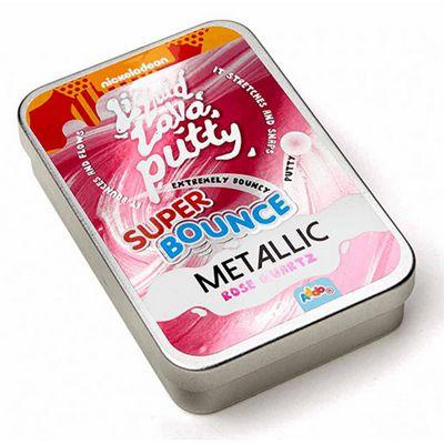 Nickelodeon Liquid Lava PuttySuper Bounce Metallic - Rose Quartz