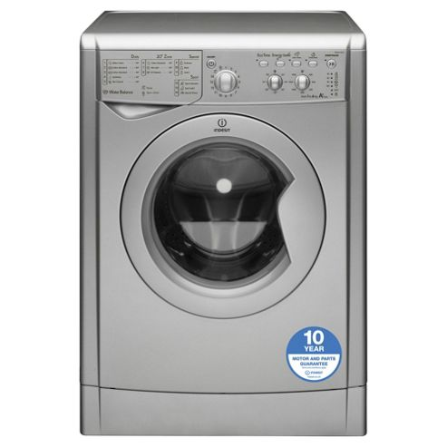 Indesit IWC61451S, Freestanding  Washing Machine, 6Kg Wash Load, 1400 RPM Spin, A+ Energy Rating, Silver