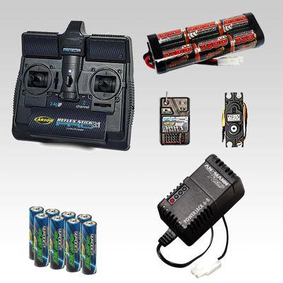 Rc Car Radio Gear, Battery & Charger Combo, Acoms Tamiya Radio Control Boat Car