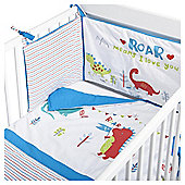 Dinosaur Roar Quilt & Bumper Baby Nursery Bedding Set