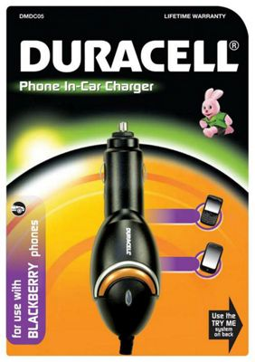 Duracell In-Car Charger for Blackberry