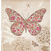 Enchanted Butterfly Printed Canvas 40cm x 40cm