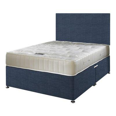 Happy Beds Ortho Royale Divan Bed Set No Drawer 3ft Midnight Blue