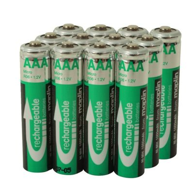 12 Rechargeable AAA Battery NiMh 1000Mah Value Pack
