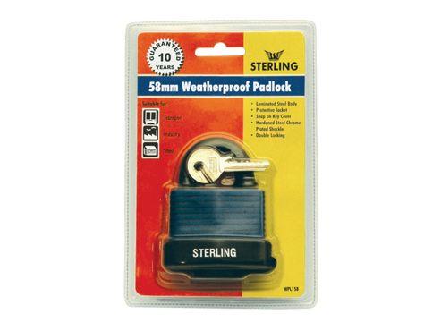 Sterling Wpl158 W/Proof Padlock D/Lk Lam 58Mm