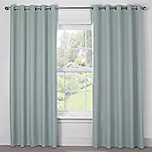 Julian Charles Luna Duck Egg Blackout Eyelet Curtains - 44x72 Inches (112x183cm)