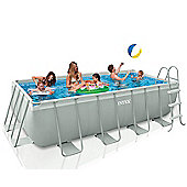 "Intex Ultra Frame Rectangular Frame Pool 157 1/2"" x 78 3/4"" x 39 3/8"" - 28350"
