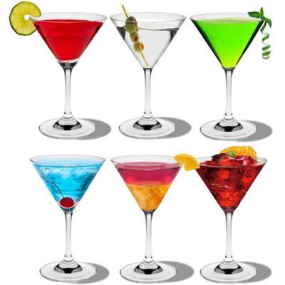 Rink Drink Martini Cocktail Glasses